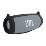 Speaker Portable Silicone Protective Cover with Shoulder Strap & Carabiner For JBL Charge 5(Black)