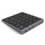 N960 Ultra-thin Universal Aluminum Alloy Rechargeable Wireless Bluetooth Numeric Keyboard (Grey)