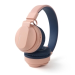 Fingertime BOBo Kids Gift Bluetooth 5.0 Bass Noise Cancelling Stereo Wireless Headset With Mic, Support TF Card / FM / AUX-in(Pink)