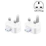 2 PCS XJ01 Power Adapter for iPad 10W 12W Charger & MacBook Series Charger, UK Plug