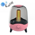 LP-20 LED Night Light Wireless Bluetooth 5.0 Music Speaker Support TF Card / AUX(Pink)