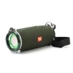 T&G TG192 LED Flashing Light Portable Wireless Bass 3D Stereo Bluetooth Speaker, Support FM / TF Card / USB(Green)