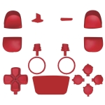 2 Sets Handle Button Decoration Strip Replacement Shell Accessories For PS5(Red)