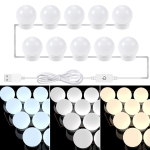 3 Color Temperature Mirror Front Lamp USB Simple Bathroom Makeup Light Bulbs, Power source: 10 LEDs