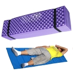 Outdoor Egg Nest Folding Moisture-Proof Pad Thickening Nap Mat Portable Camping Mat(Purple+Black)