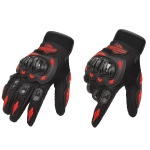BSDDP RH-A010 Motorcycle Riding Gloves Anti-Slip Wear-resisting Outdoor Gloves, Size: M(Red)