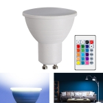 Energy-Saving LED Discoloration Light Bulb Home 15 Colors Dimming Background Decoration Light, Style: Milky White Cover GU10(RGB White)