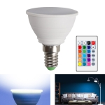 Energy-Saving LED Discoloration Light Bulb Home 15 Colors Dimming Background Decoration Light, Style: Milky White Cove E14(RGB White)