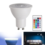 Energy-Saving LED Discoloration Light Bulb Home 15 Colors Dimming Background Decoration Light, Style: Transparent Cover GU10(RGB White)