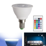 Energy-Saving LED Discoloration Light Bulb Home 15 Colors Dimming Background Decoration Light, Style: Transparent Cover E14(RGB White)