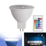 Energy-Saving LED Discoloration Light Bulb Home 15 Colors Dimming Background Decoration Light, Style: Transparent Cover MR16(RGB White)