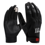 BSDDP A0112 Motorcycle Plush Cold-proof Touch Screen Riding Gloves Windproof Waterproof Outdoor Sports Gloves, Size: XXL(Black)