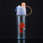 2 PCS Children Plastic Water Cup Outdoor Sports Spray Cup, Capacity: 400ml(Dinosaur)
