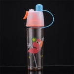 2 PCS Children Plastic Water Cup Outdoor Sports Spray Cup, Capacity: 400ml(Flamingo)