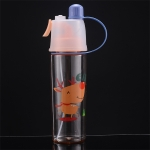 2 PCS Children Plastic Water Cup Outdoor Sports Spray Cup, Capacity: 400ml(Deer)