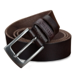 COWATHER XF018 Men Casual Business Pin Buckle Cowhide Belt,Length: 125cm(Coffee Color)