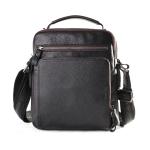 6479 Men Casual Large-Capacity One-Shoulder Messenger Leather Bag(Litchi Texture Black)