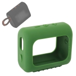 For JBL GO3 Bluetooth Speaker Silicone Cover Portable Protective Case with Carabiner(Army Green)