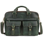 6360 Men Business Briefcase 17 Inch Laptop Computer Messenger Bag(Green)