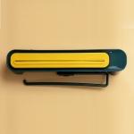 2 PCS TM21006 3-In-1 Fresh Film Cutter Kitchen Garbage Bag Storage Racks Plastic Wrap Storage Tissue Storage(Blue yellow)