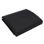 Outdoor Oxford Cloth Furniture Cover Garden Dustproof Waterproof And UV-Proof Table And Chair Protective Cover, Size: 120x120x74cm(Black)