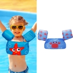 Children Play Water Swimming Gear Cartoon Buoyancy Vest(Blue Crab)