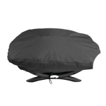 Outdoor Camping Garden Oven Cover Dustproof And Waterproof Cover For Weber 7100 / Q100 / Q1000, Size: 67.1x44x32cm(Black)