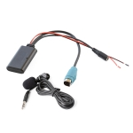 Car AUX Bluetooth Wireless Music Audio Cable + MIC Phone  for Alpine KCE-236B 9870/9872