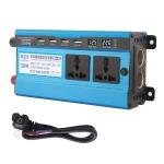 Carmaer 48V to 220V 1200W Double Socket Car Double Digital Display Inverter Household Power Converter