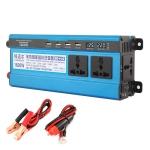 Carmaer 24V to 220V 1600W Three Socket Car Double Digital Display Inverter Household Power Converter
