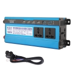Carmaer 48V to 220V 1600W Three Socket Car Double Digital Display Inverter Household Power Converter