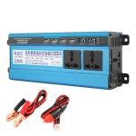 Carmaer 24V to 220V 2200W Three Socket Car Double Digital Display Inverter Household Power Converter