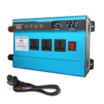 Carmaer 60V to 220V 3000W Intelligent Fan Car Double Digital Display Inverter Household Power Converter