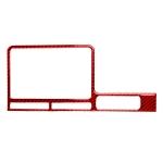 Carbon Fiber Car Navigation Display Frame Decorative Sticker for Nissan GTR R35 2008-2016, Right Driving(Red)