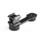YELANGU A682 Triple Cold Shoe Base Mount Adapter Expansion Microphone Stand Bracket  LED Video Light Holder (Black)