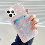 Shell Texture TPU Protective Case with Card Slot For iPhone 11(Pink)