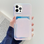 Colorful TPU Protective Case with Card Slot For iPhone 12 / 12 Pro