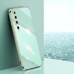 For Xiaomi Mi 10 5G XINLI Straight 6D Plating Gold Edge TPU Shockproof Case(Mint Green)