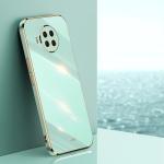 For Xiaomi Mi 10T Lite 5G XINLI Straight 6D Plating Gold Edge TPU Shockproof Case(Mint Green)