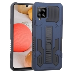 For Samsung Galaxy A42 5G Vanguard Warrior All Inclusive Double-color Shockproof TPU + PC Protective Case with Holder(Cobalt Blue)