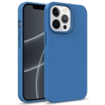 Starry Series Shockproof Straw Material + TPU Protective Case For iPhone 13(Blue)