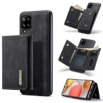 For Samsung Galaxy A42 5G DG.MING M1 Series 3-Fold Multi Card Wallet + Magnetic Back Cover Shockproof Case with Holder Function(Black)