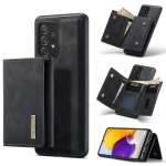 For Samsung Galaxy A72 5G / 4G DG.MING M1 Series 3-Fold Multi Card Wallet + Magnetic Back Cover Shockproof Case with Holder Function(Black)