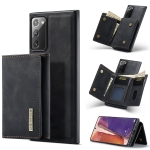 For Samsung Galaxy Note20 DG.MING M1 Series 3-Fold Multi Card Wallet + Magnetic Back Cover Shockproof Case with Holder Function(Black)