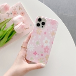 Flower Pattern TPU Shockproof Protective Case For iPhone 12 Pro Max(Pink)