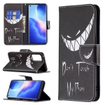 For OPPO Reno5 Pro Colored Drawing Pattern Horizontal Flip Leather Case with Holder & Card Slots & Wallet(Smirk)