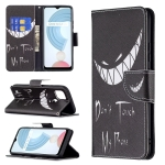 For OPPO Realme C21 / C20 Colored Drawing Pattern Horizontal Flip Leather Case with Holder & Card Slots & Wallet(Smirk)