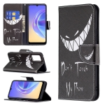 For vivo V21e 4G Colored Drawing Pattern Horizontal Flip Leather Case with Holder & Card Slots & Wallet(Smirk)