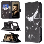 For vivo V21e 5G Colored Drawing Pattern Horizontal Flip Leather Case with Holder & Card Slots & Wallet(Smirk)