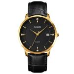 SKMEI 1801 Men Casual Calendar Quartz Watch(Gold and Black)